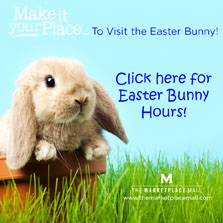 Easter Bunny Hours at Marketplace Mall, Henrietta