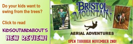 KidsOutAndAbout reviews Bristol Mountain's Aerial Adventures