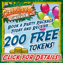 Birthday Party Coupon at Clubhouse Fun Center