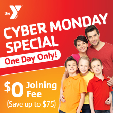 Cyber Monday $0 signup at the Y!