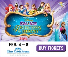 Disney on Ice presents Princesses& Heroes Feb 4-8 at Blue Cross Arena