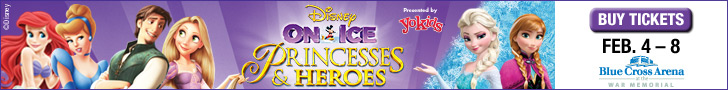 Disney on Ice: Princesses & Heroes at Blue Cross Arena February 6-8, 2015