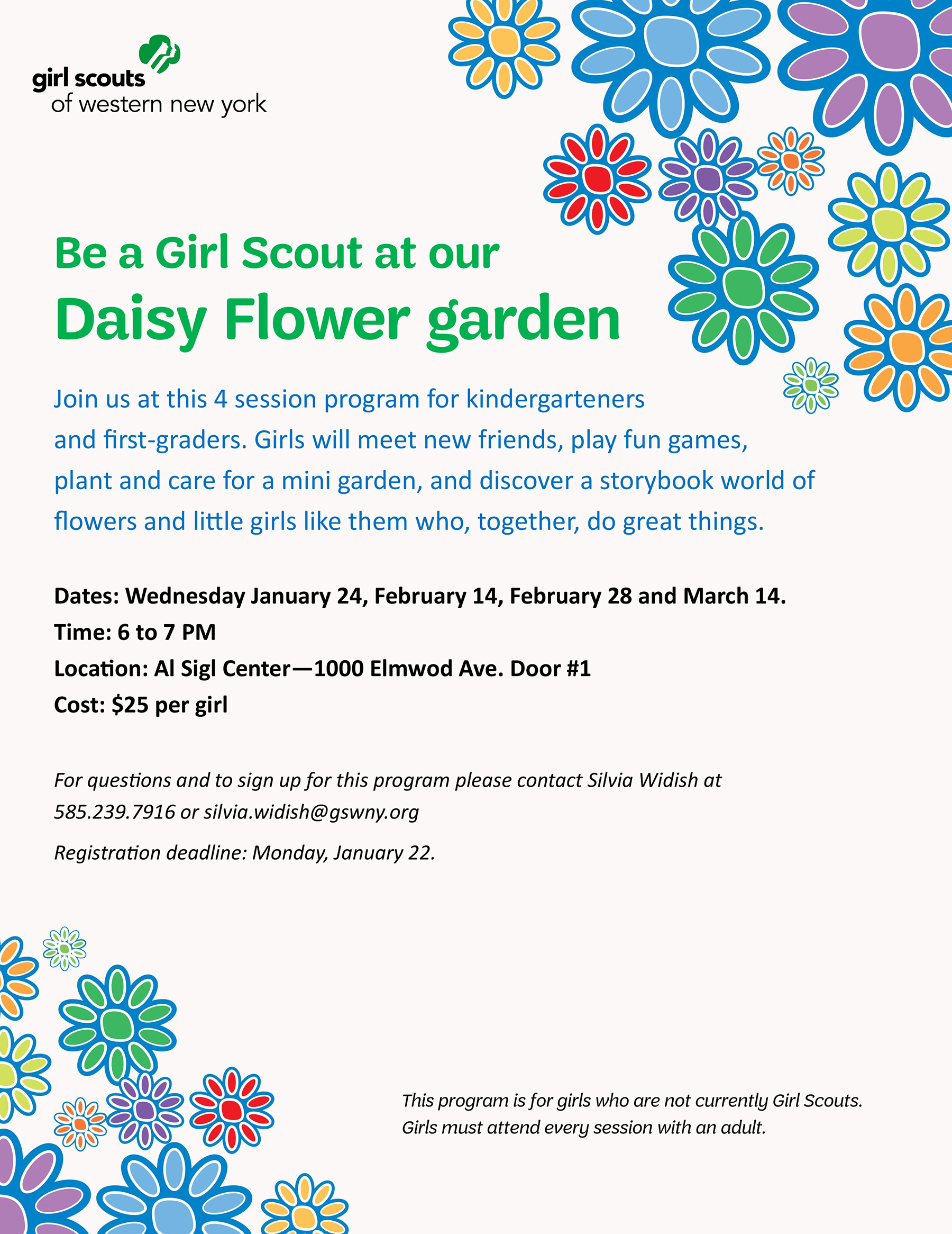 Become a girl scout join our daisy flower garden series kids out become a girl scout join our daisy flower garden series kids out and about rochester izmirmasajfo