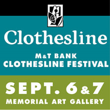 Memorial Art Gallery's annual Clothesline Festival in Rochester, September 6-7, 2014
