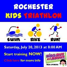 Rochester Kids Triathlon - Saturday, July 20 at Genesee Valley Park
