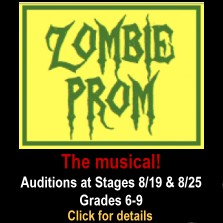 Your middle schooler can audition for Zombie Prom - the musical at Stages