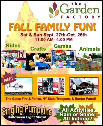 Fall Family Fun At The Garden Factory Sept 27 Oct 26 Kids Out And About Rochester