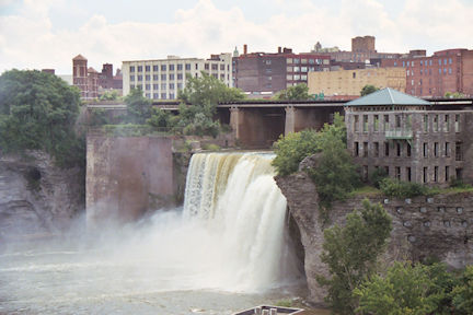 Rochester's High Falls from walking tour