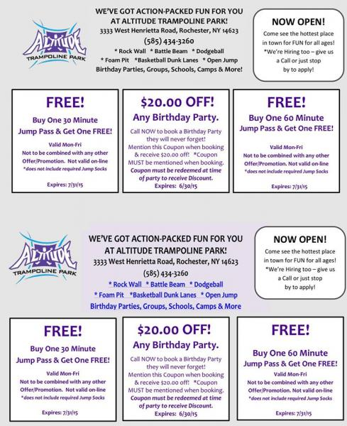 coupons trampoline park