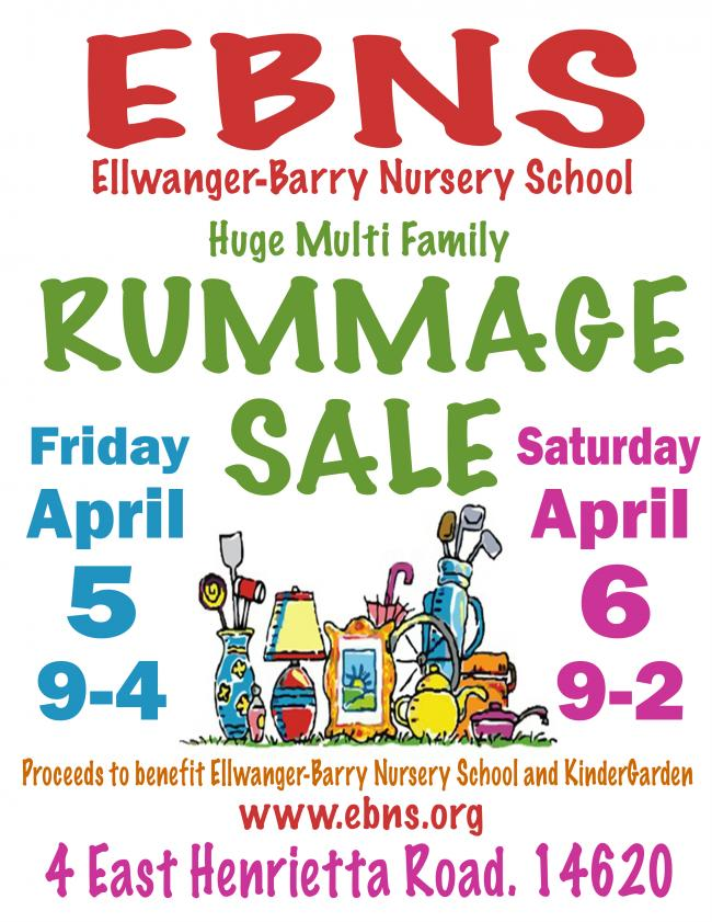 Rummage Sale | Kids Out and About Rochester