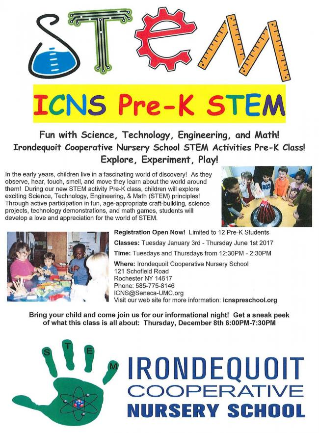 STEM Pre-K Activities Class | Kids Out and About Rochester
