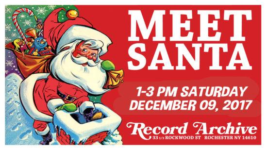 Meet santa kids out and about rochester come on down to the record archive with your family to meet santa pop up shop with local artist sabra of cat clay get a caricature done as well as other m4hsunfo