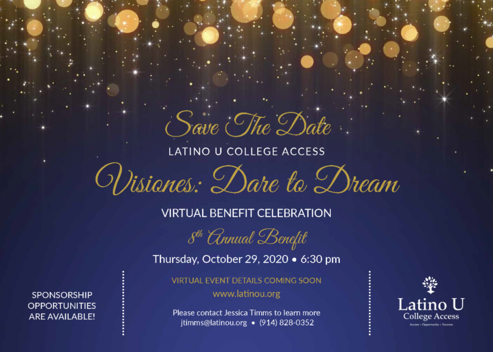 October 27th 2020 Halloween The Learning Experience VIRTUAL EVENT: Latino U College Access 8th Annual Visiones Benefit