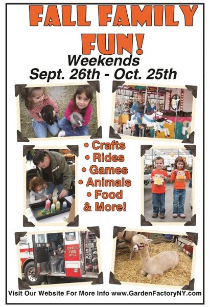 Fall Family Fun At The Garden Factory Sept 26 Oct 25 Kids Out And About Rochester